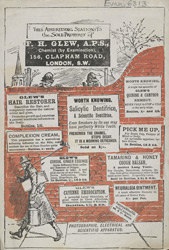 Advert For F. H. Glew, Chemist